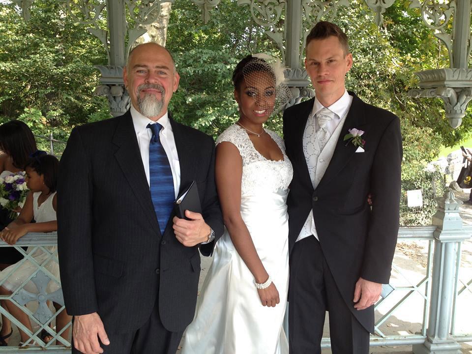 NYC Officiant Peter Boruchowitz with Wedding Couple