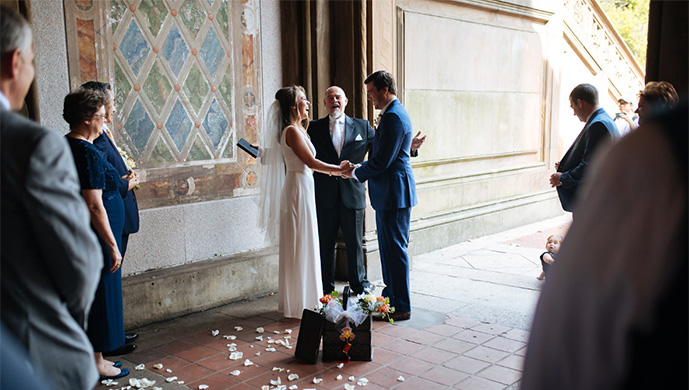 Central Park Elopement at Bethesda Terrace Arcade