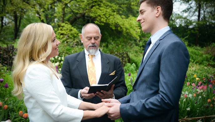 Central Park Elopement in the Shakespeare Garden