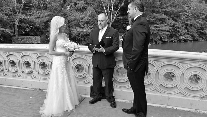 Central Park Wedding on Bow Bridge