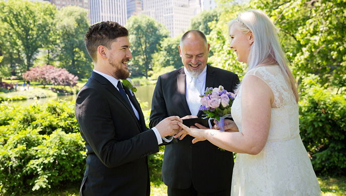 Central Park Wedding at Gapstow Bridge