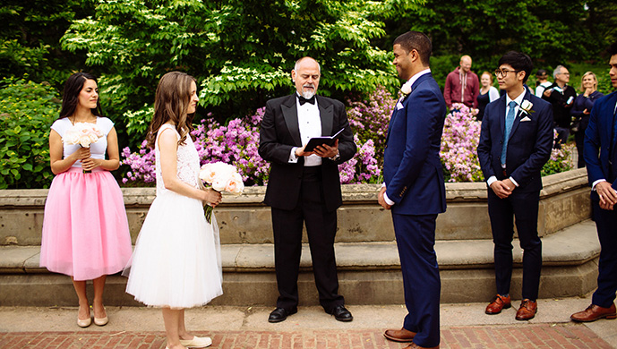 Central Park Wedding at Bethesda Terrace